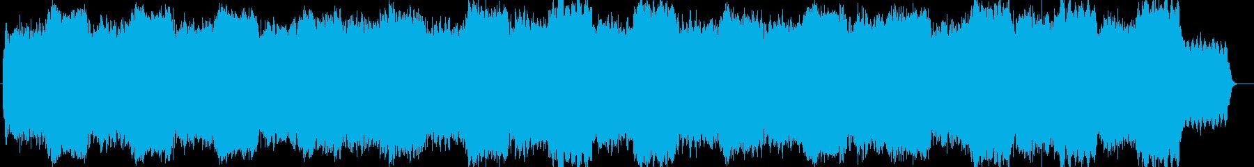 雪解けのようなヒーリングシンセサイザー曲の再生済みの波形