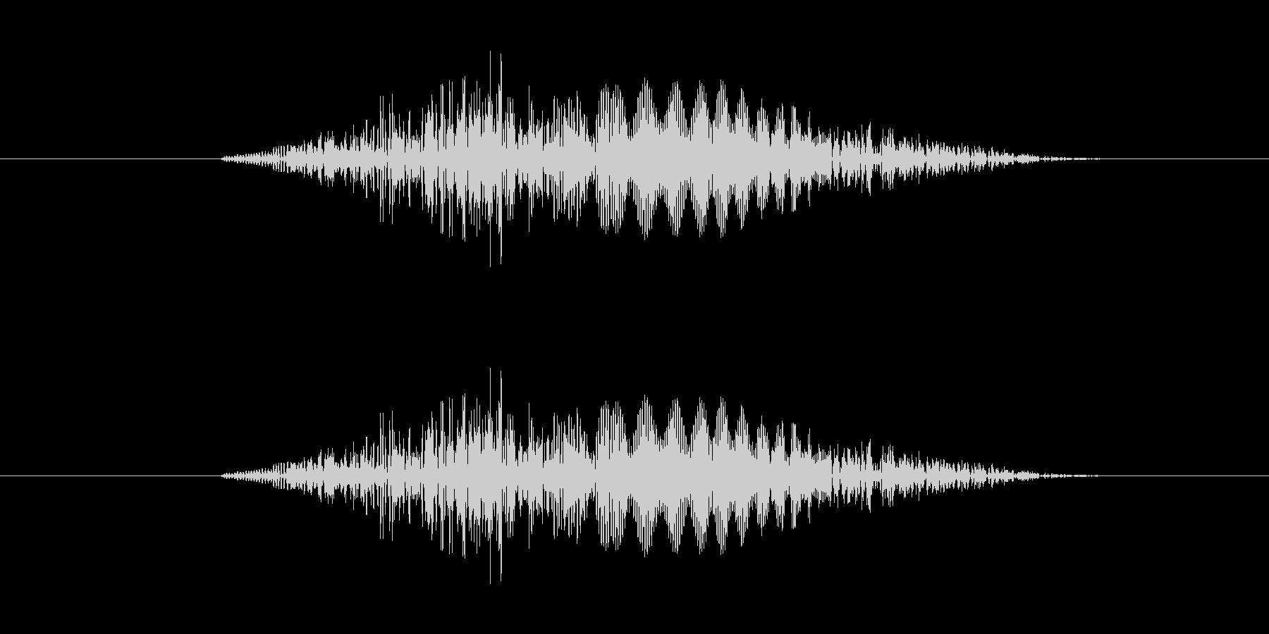 スワイプ音、表示音の未再生の波形