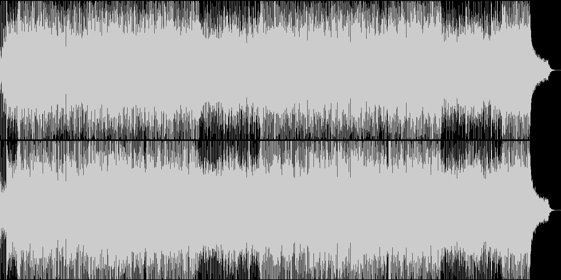 明るいクリスマスの曲の未再生の波形