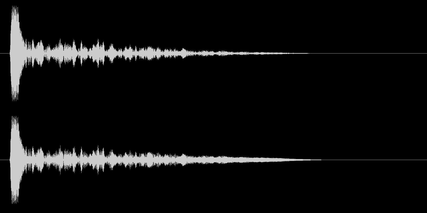 キン・カン(木材・打楽器)の未再生の波形