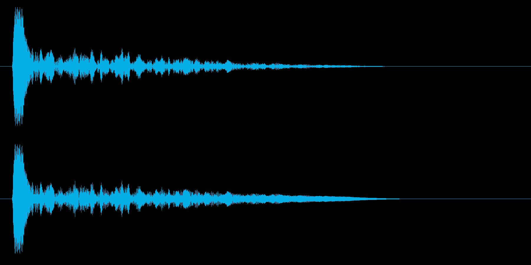 キン・カン(木材・打楽器)の再生済みの波形