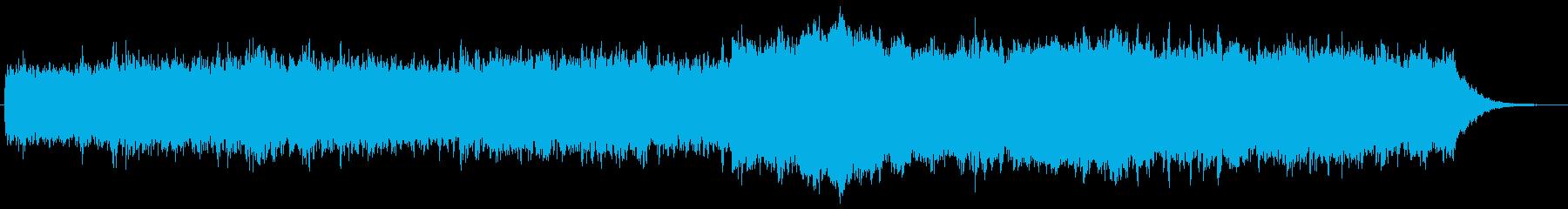 シンセによるキラキラしたジングル3の再生済みの波形