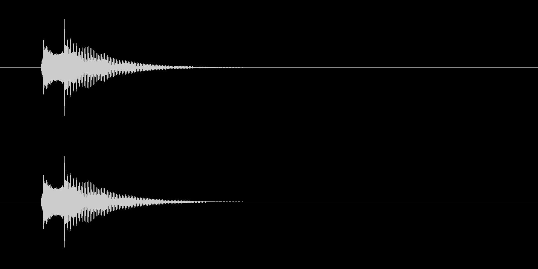 正解音 ピロンの未再生の波形