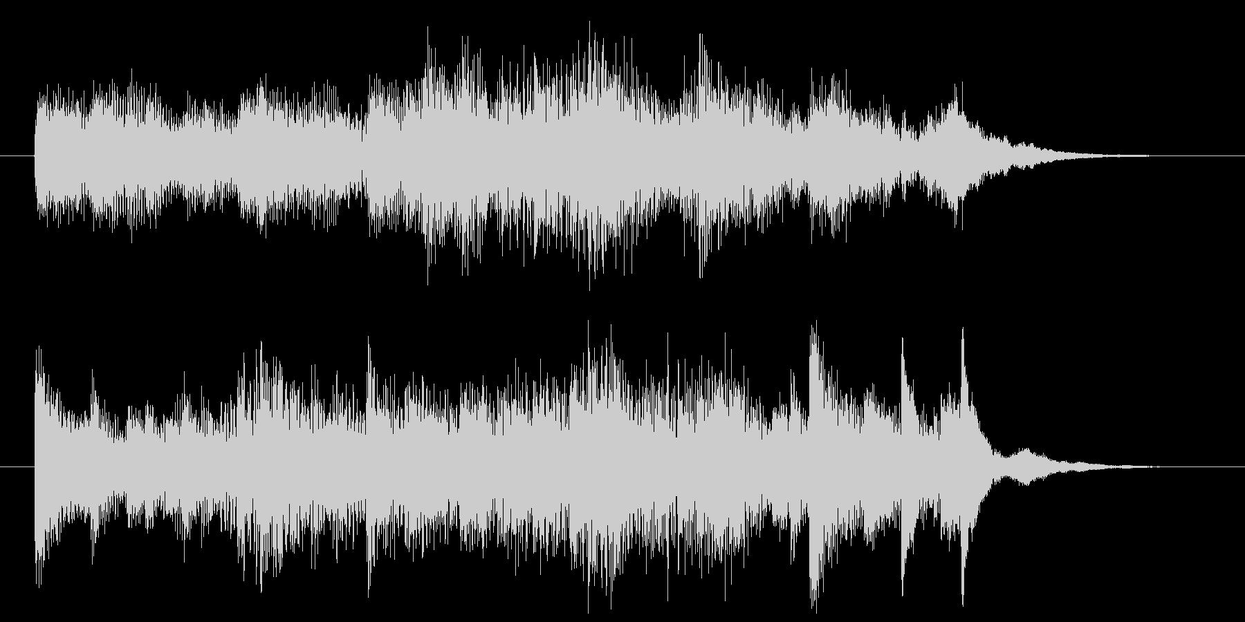 ピアノによるオシャレなサウンドロゴの未再生の波形