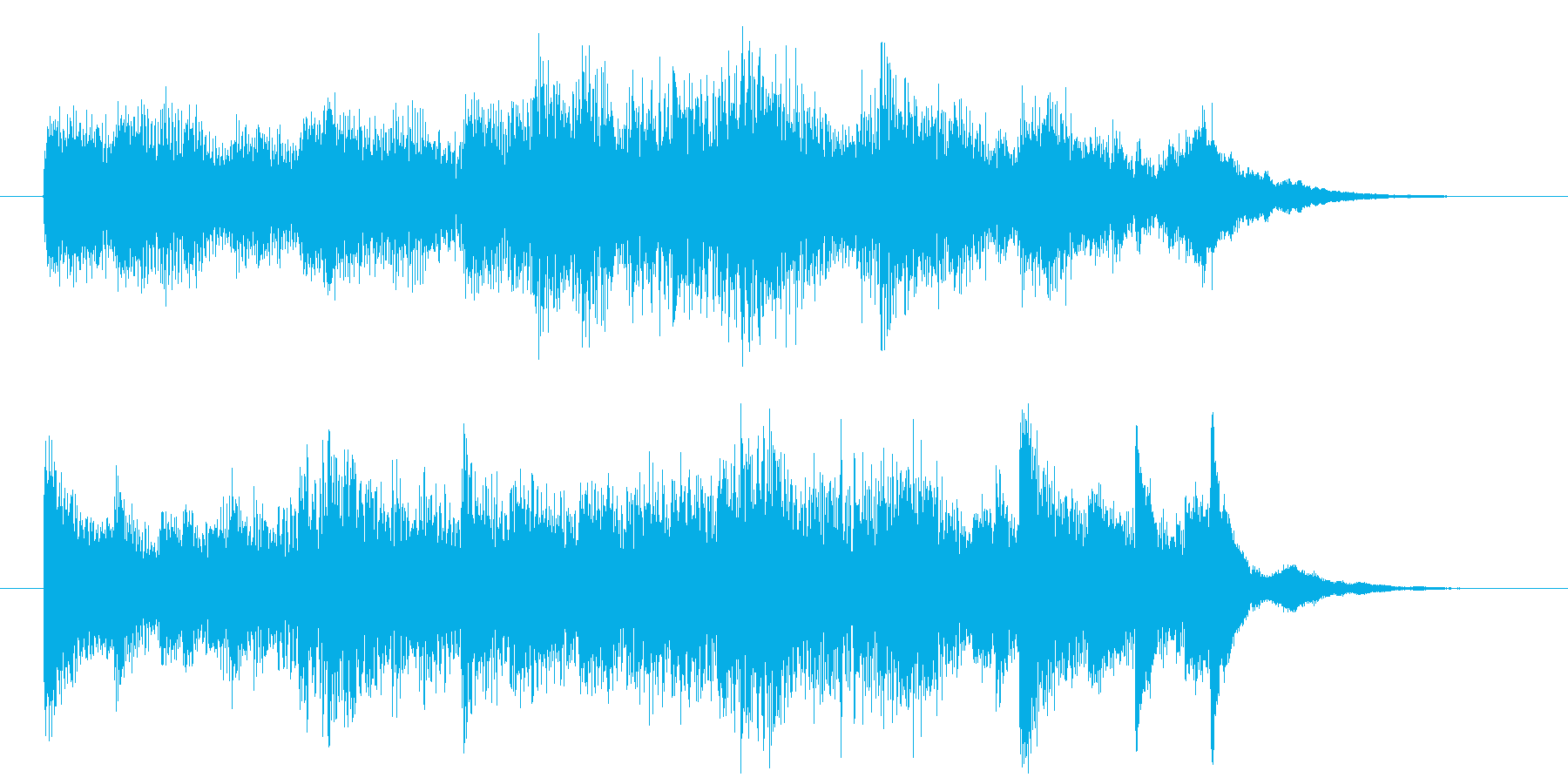 ピアノによるオシャレなサウンドロゴの再生済みの波形