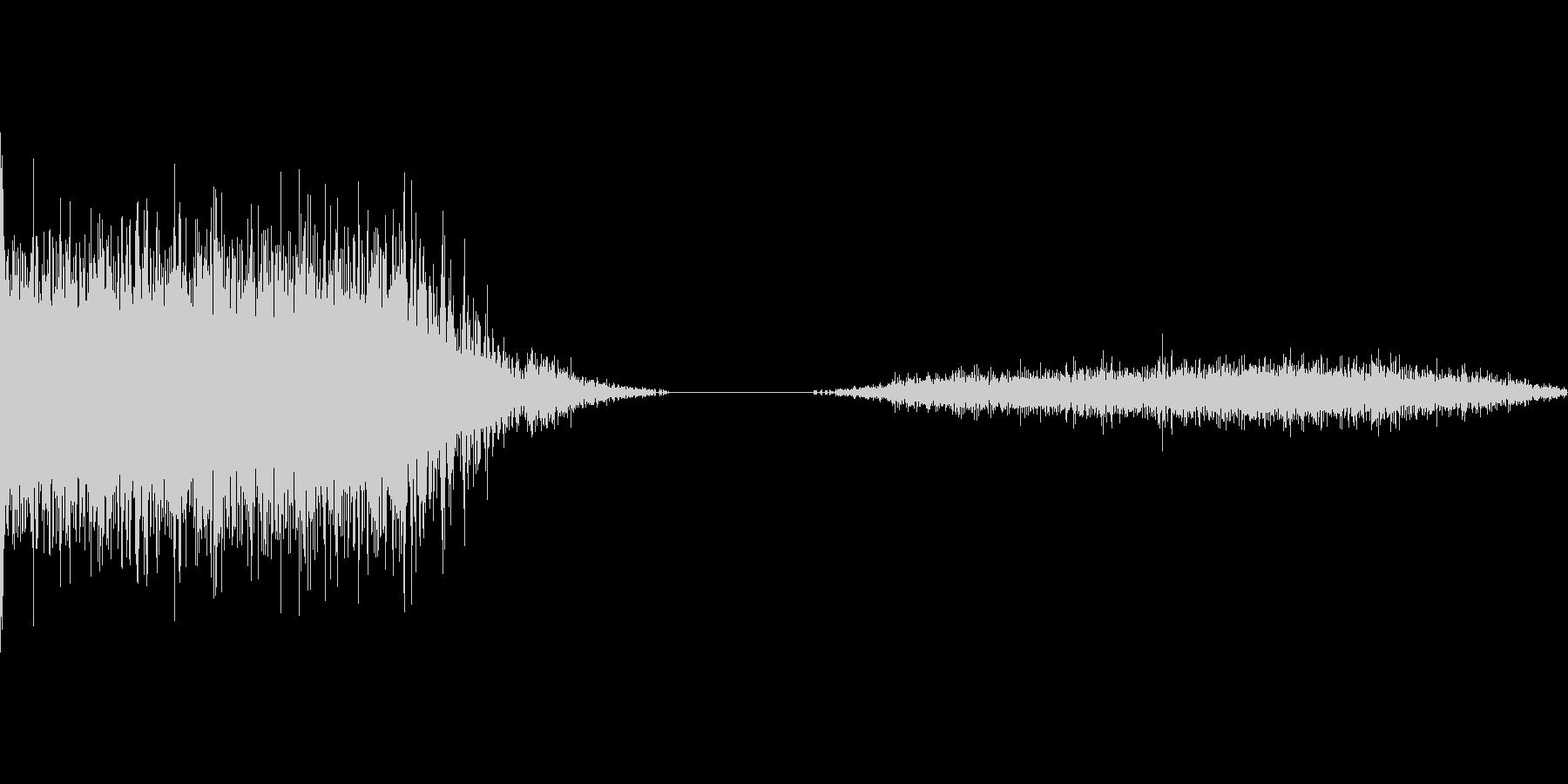 ロケット打ち上げ音2の未再生の波形