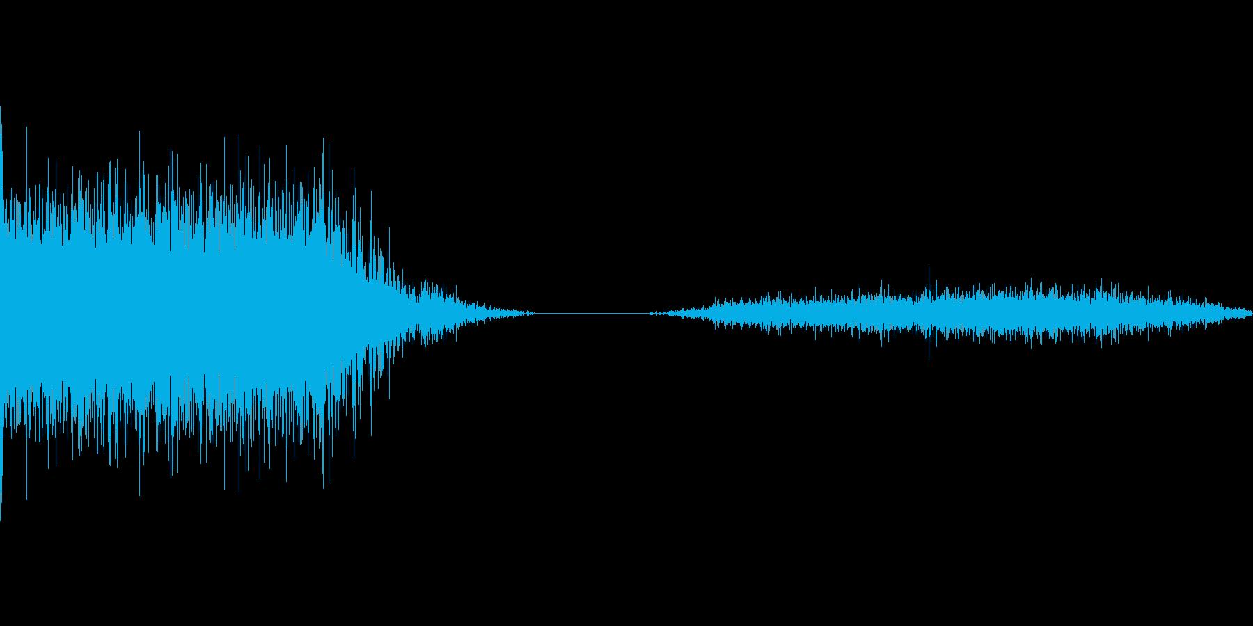 ロケット打ち上げ音2の再生済みの波形