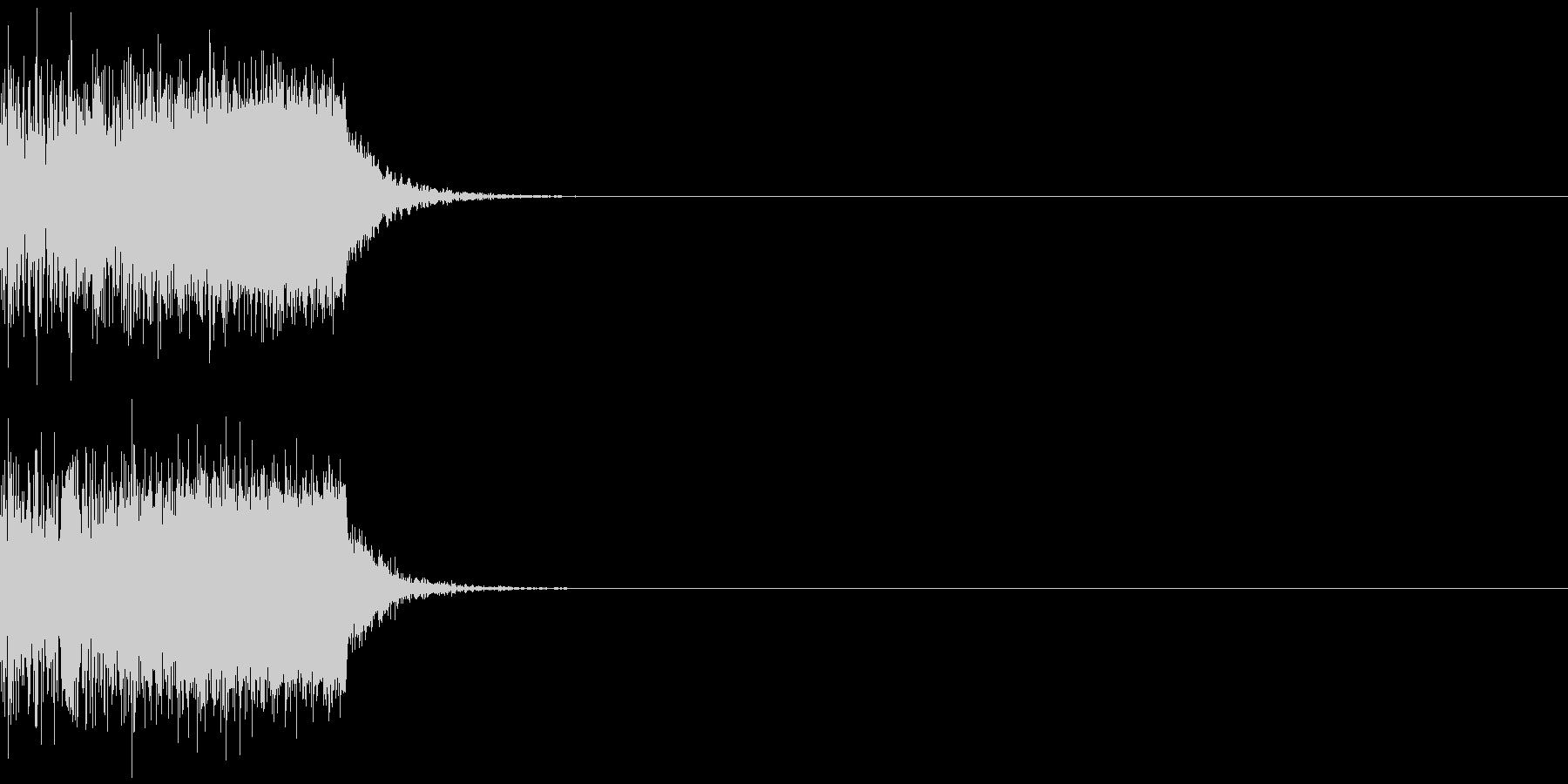 ブワーン(ワープ、タイムスリップ)の未再生の波形