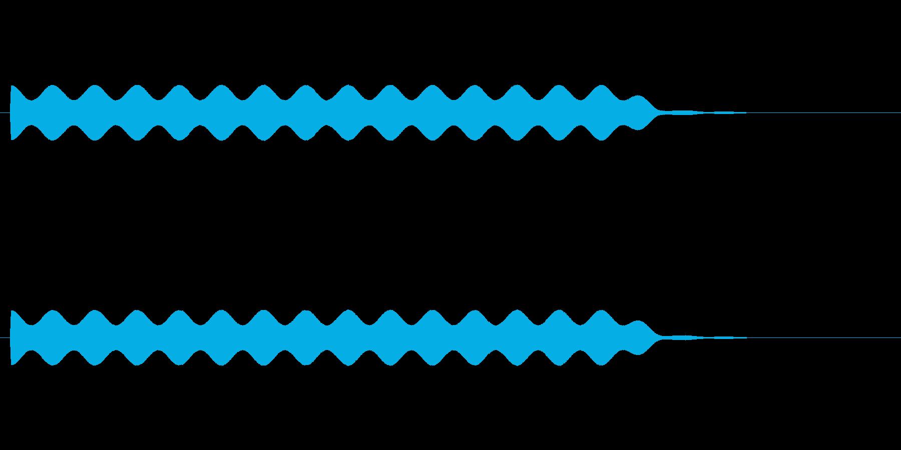 【場面効果音17-2】の再生済みの波形
