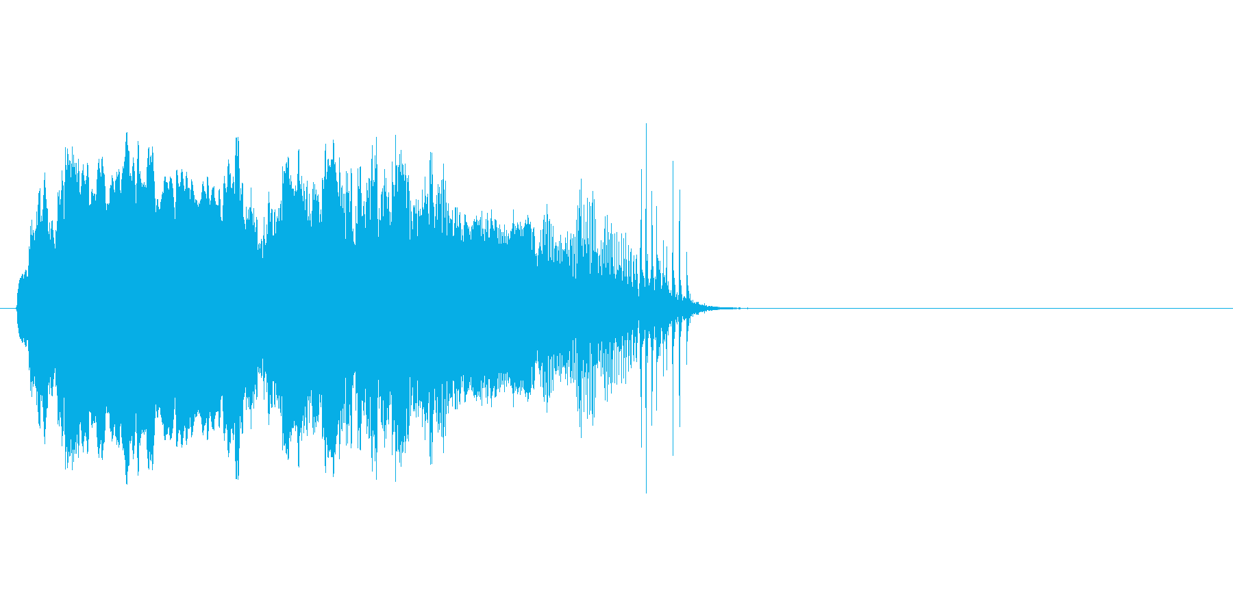 ドアがきしむ音_その5の再生済みの波形