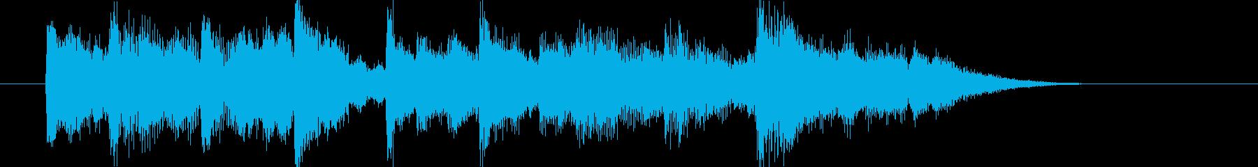 ゲームにお勧めしたい、ちょっと切なげな曲の再生済みの波形