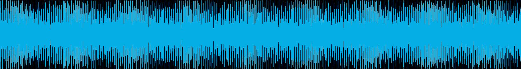 幻想的で力強い生演奏ループ音源の再生済みの波形