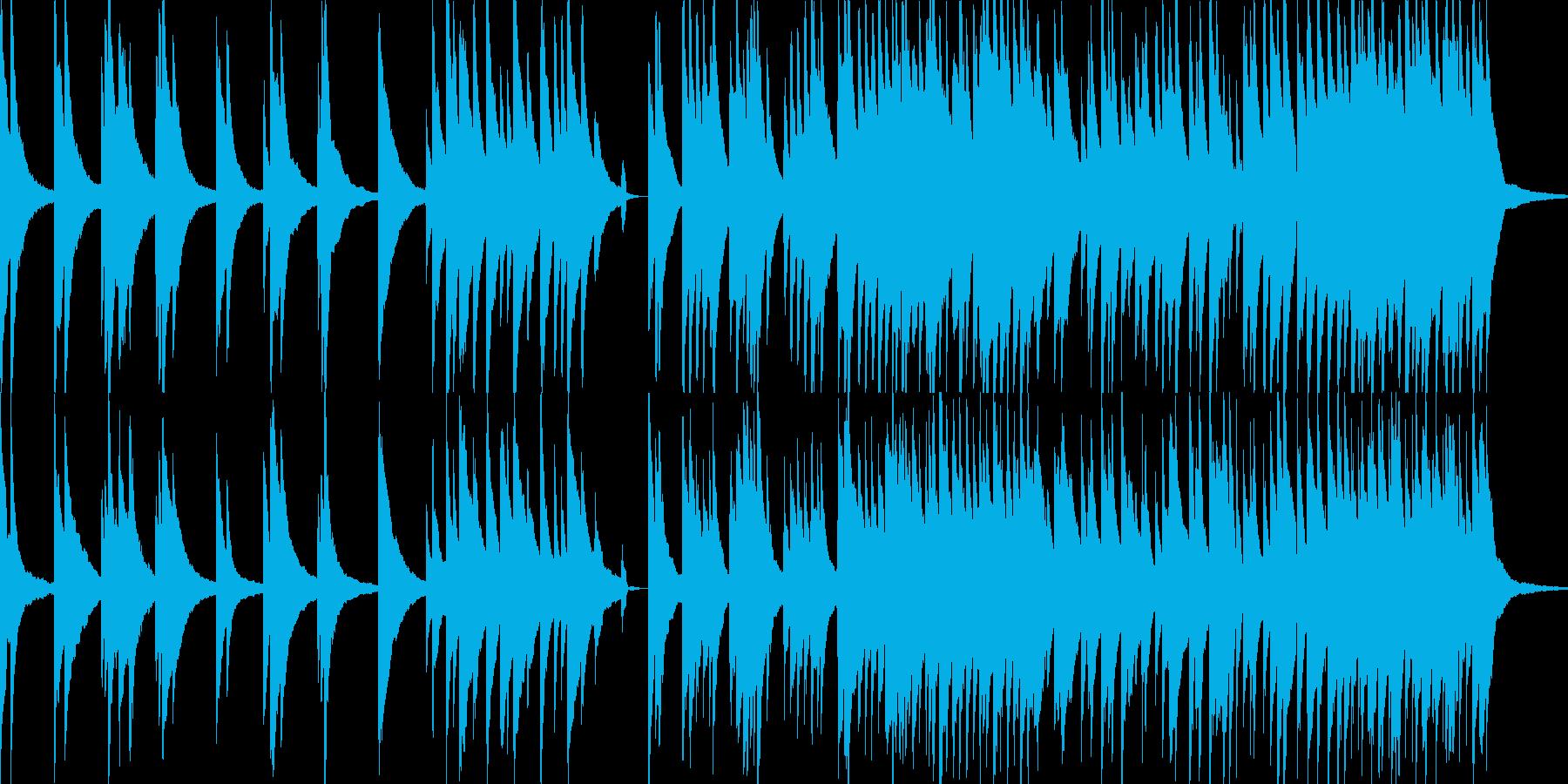悲哀感のあるピアノソロの再生済みの波形