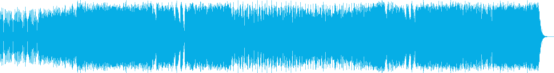 ワクワク感のシンセポップハウス系の再生済みの波形