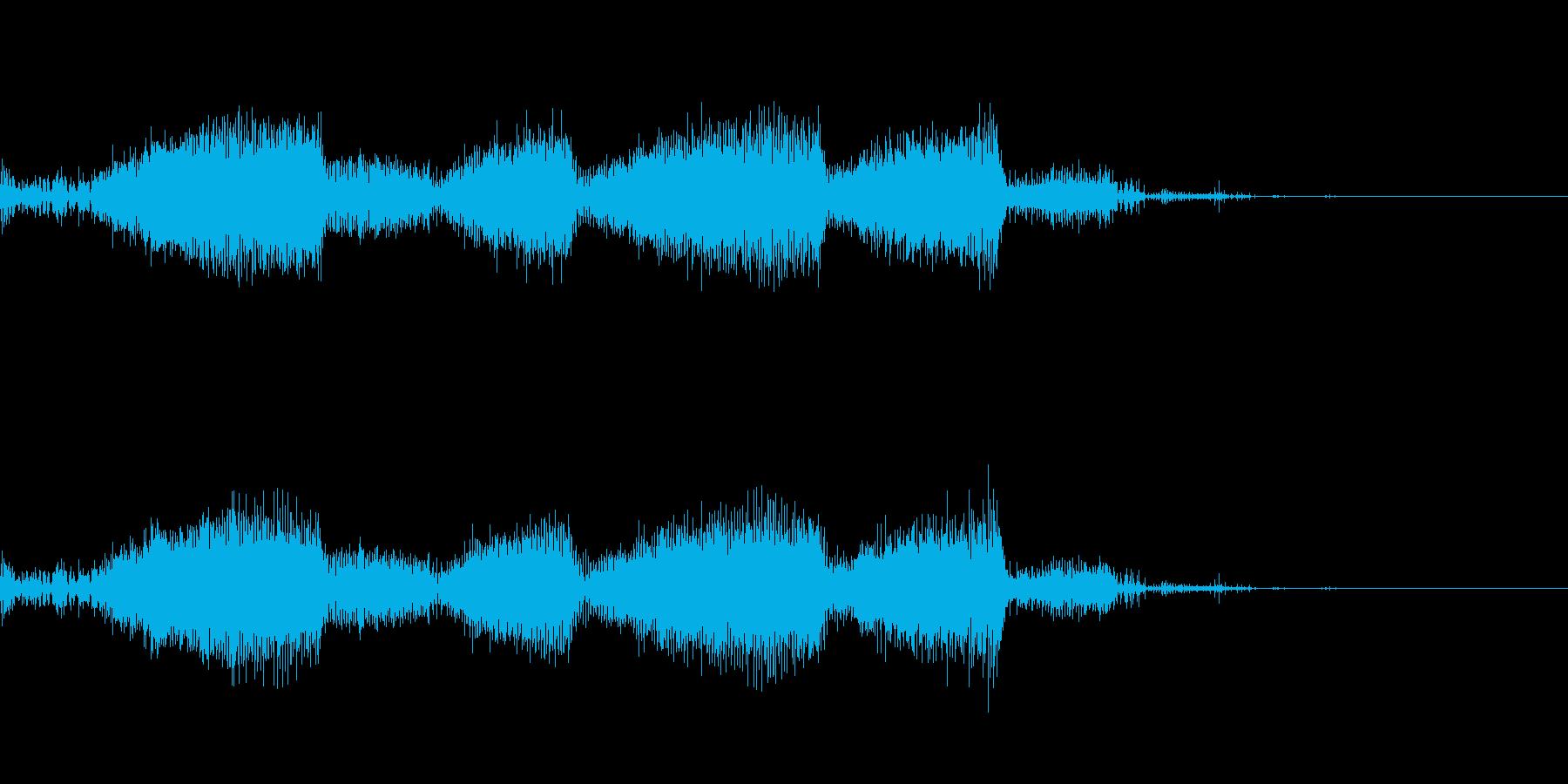 ビリビリ 電撃 感電 エレキノイズの再生済みの波形