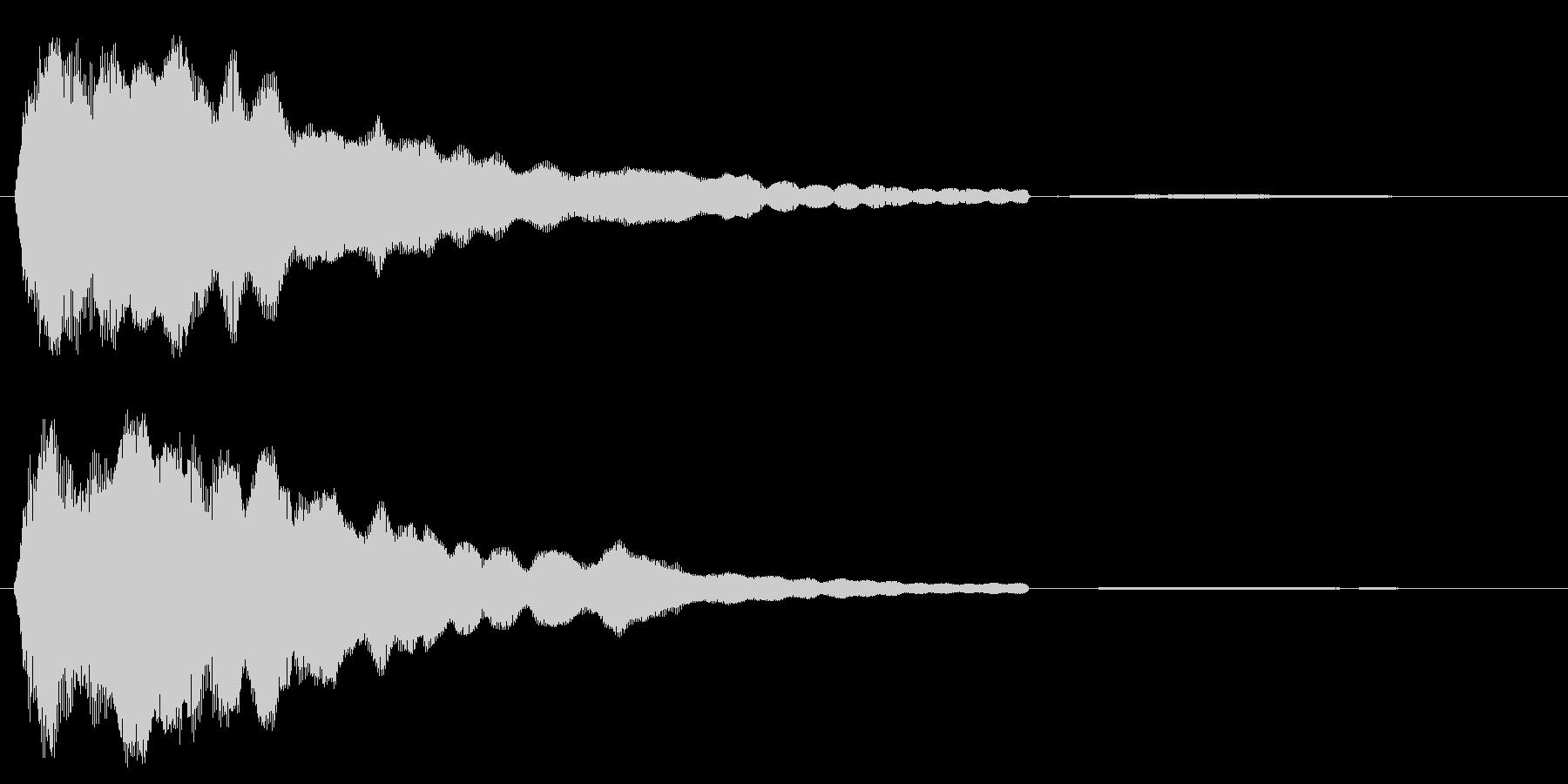 キーン(高めの澄んだ金属音)の未再生の波形