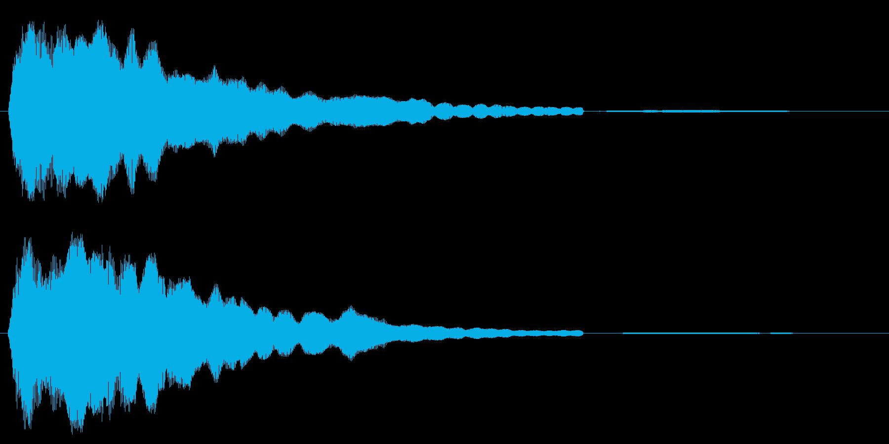 キーン(高めの澄んだ金属音)の再生済みの波形