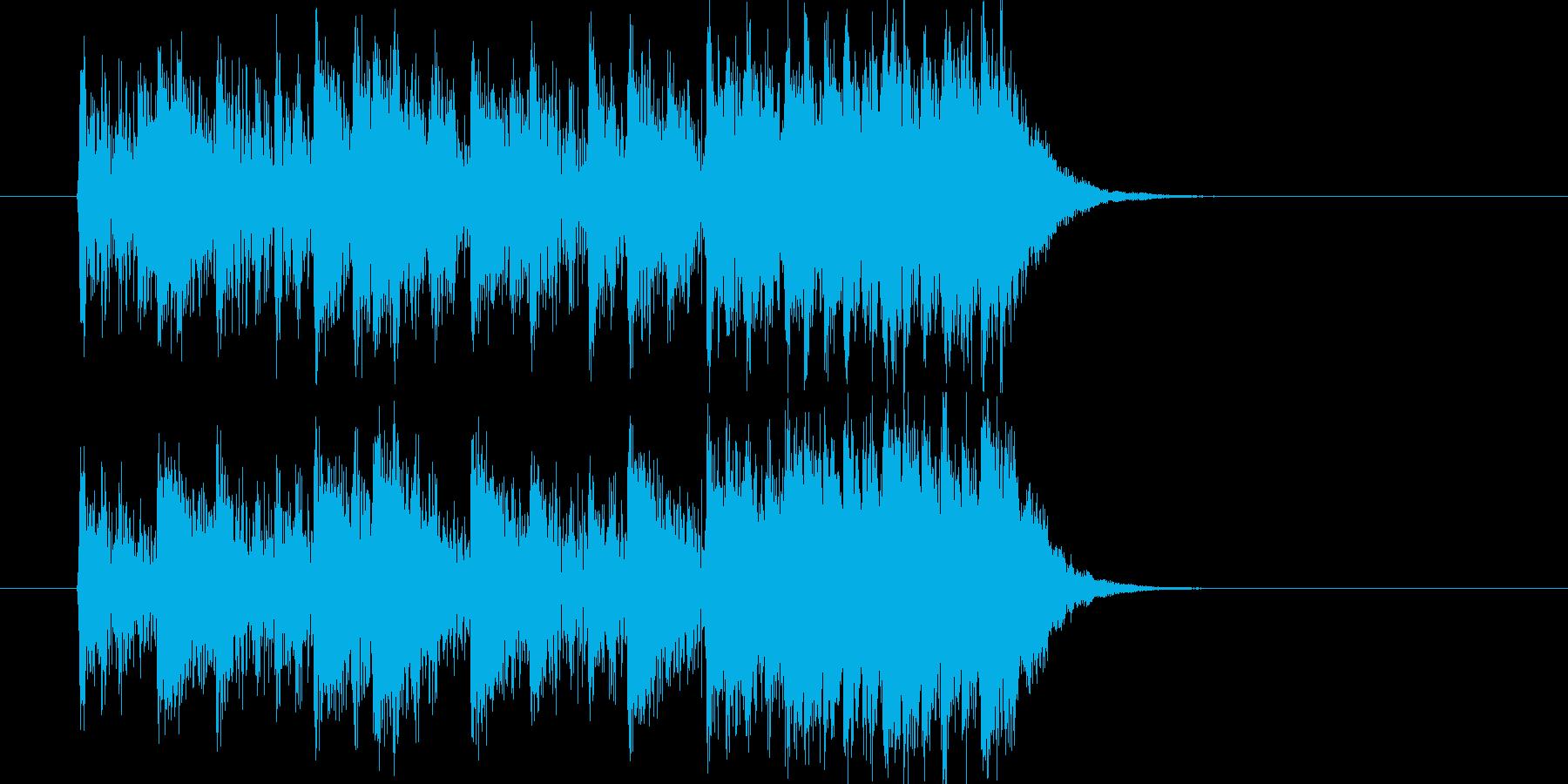 力強く激しいロックナンバーの再生済みの波形