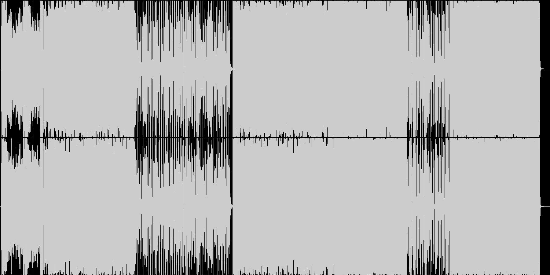 ギターリフ特盛りエモ・ラウドロックの未再生の波形