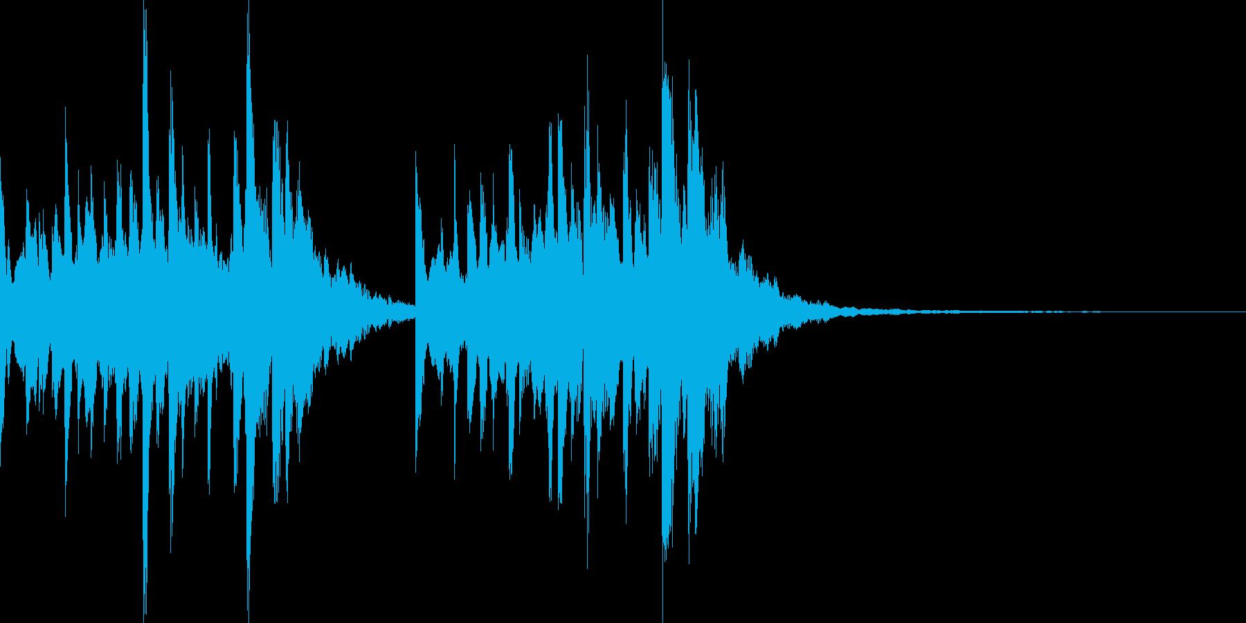 着信音、お知らせ音、アラーム音の再生済みの波形