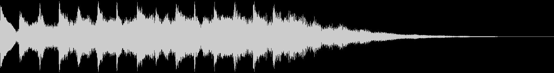 サウンドロゴ、5秒CM、場面転換verEの未再生の波形