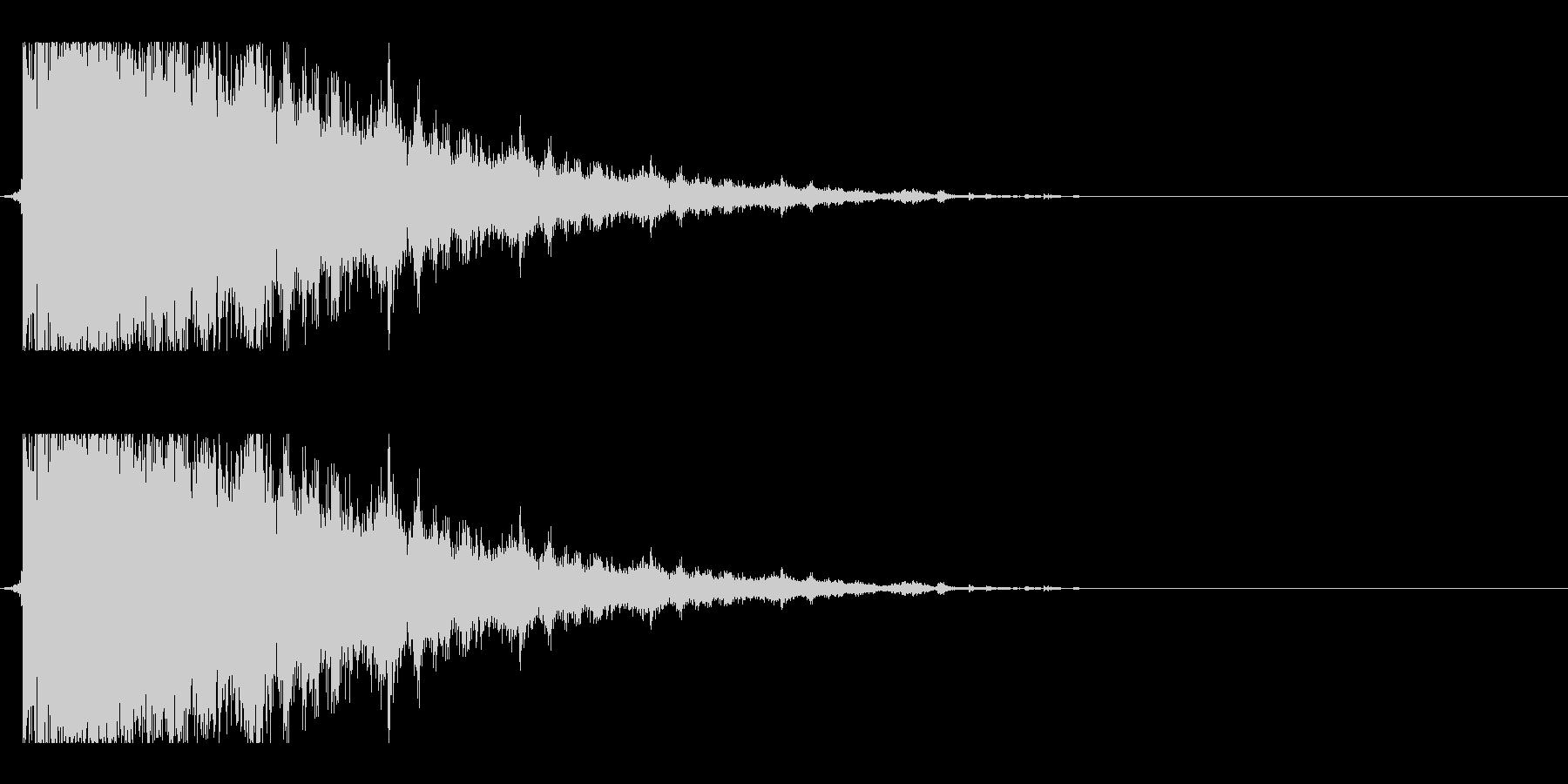ガラス割れ02(響かせるような音)の未再生の波形