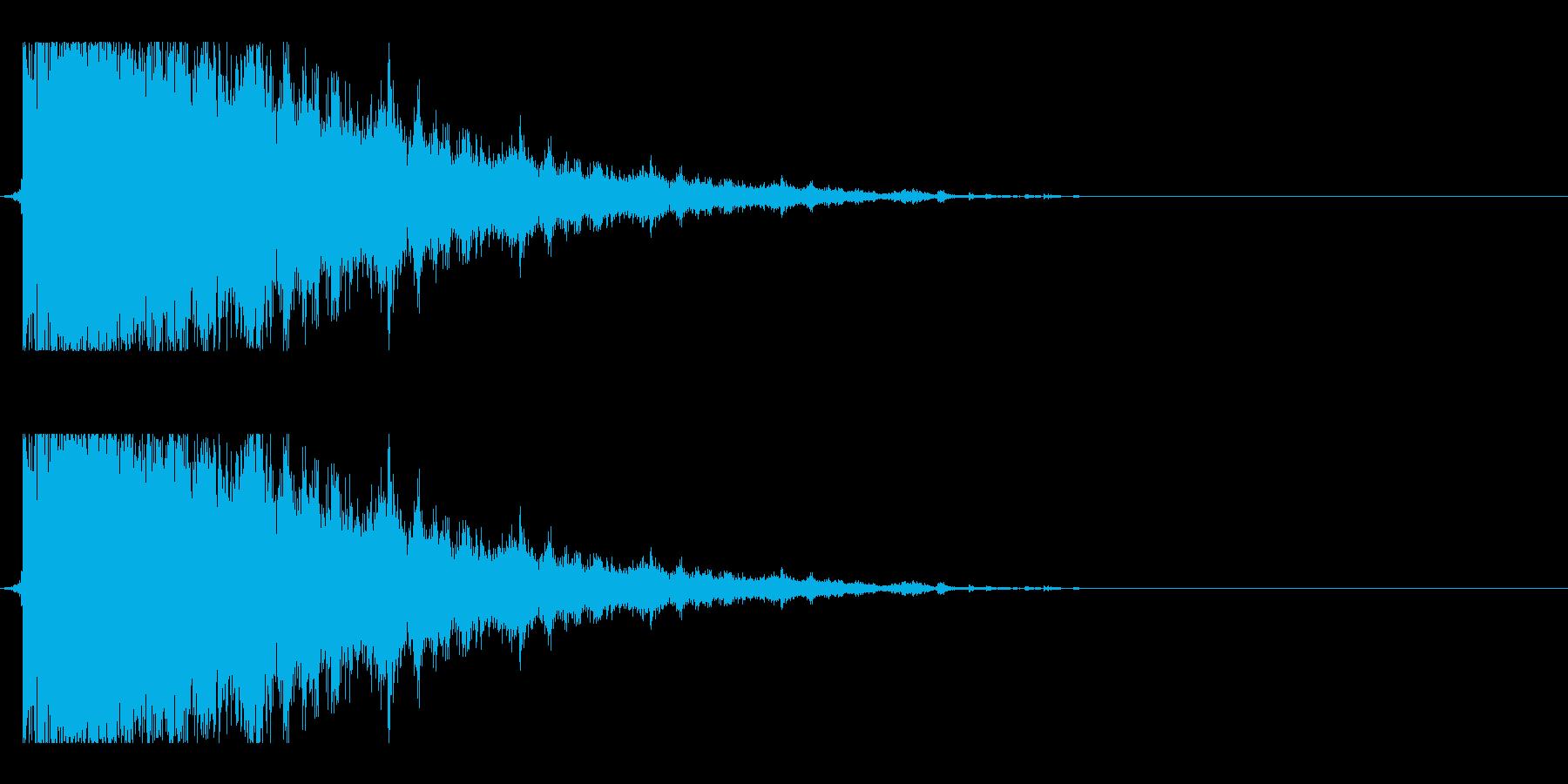 ガラス割れ02(響かせるような音)の再生済みの波形