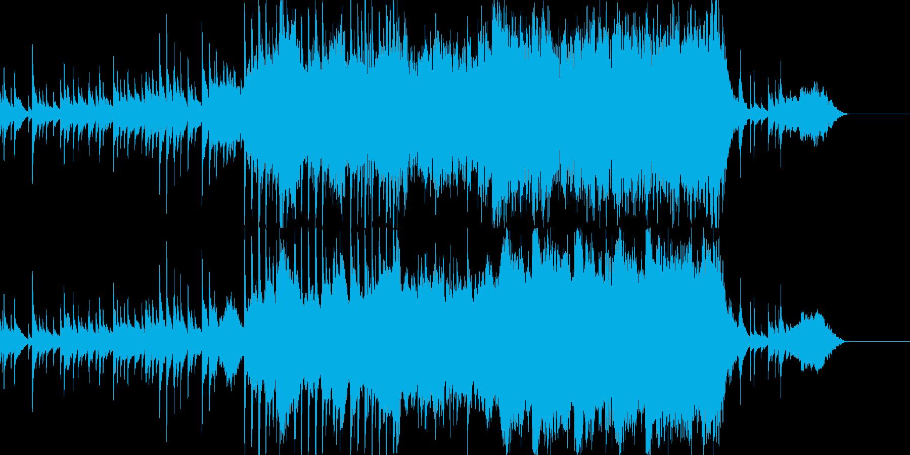 ピアノとオーケストラによるバラードの再生済みの波形