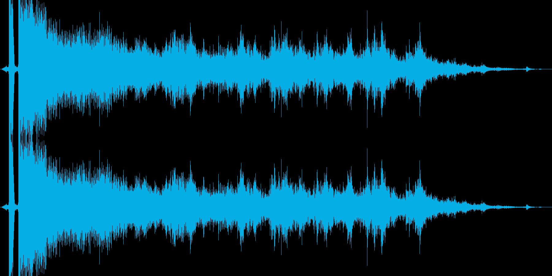 ガラス,窓ガラス,グラスが割れる効果音3の再生済みの波形