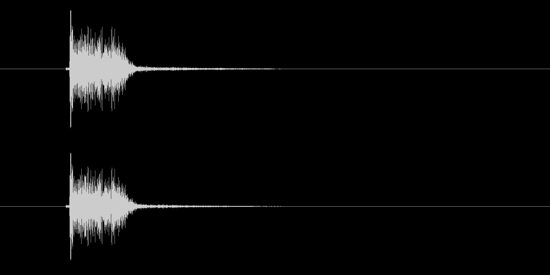 ペンッ(ギターの和音)の未再生の波形