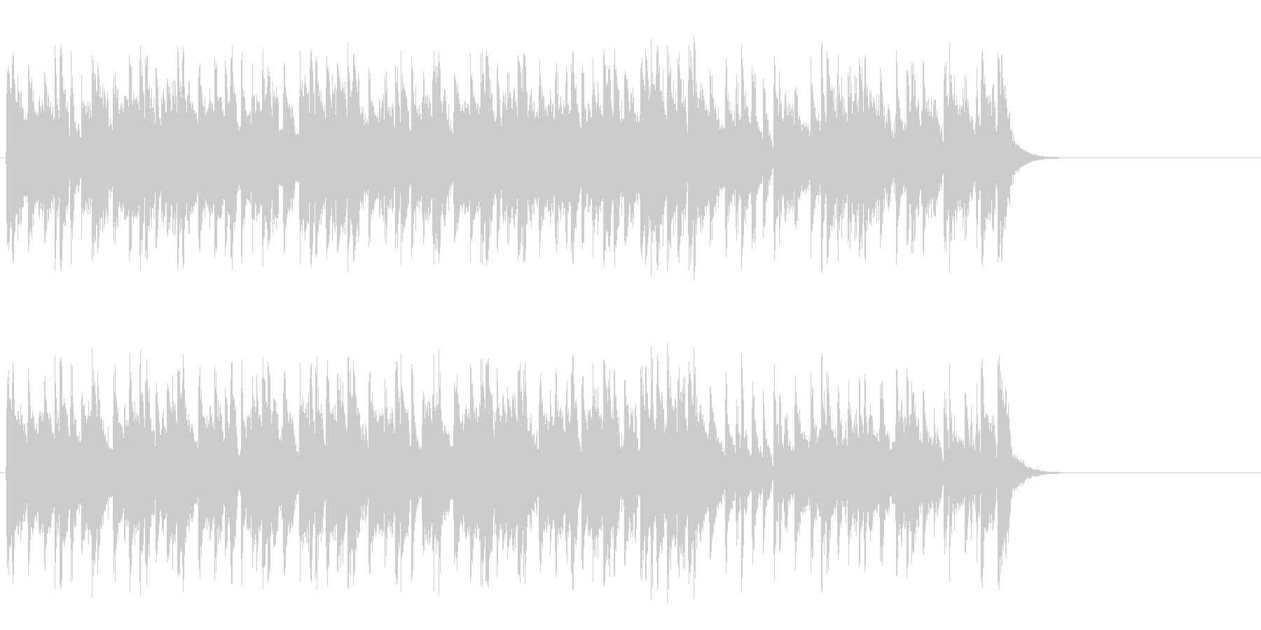リラックスなフュージョン(サビ~エンド)の未再生の波形