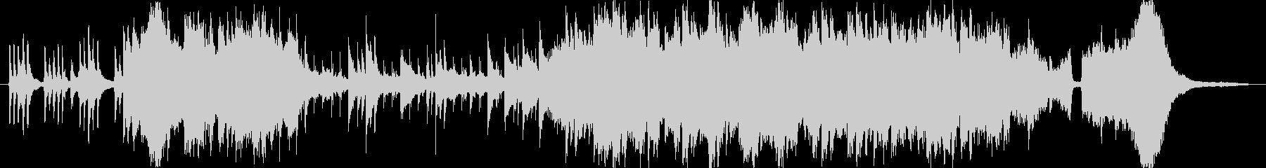 琴を主体とした和風の切ない系BGMの未再生の波形