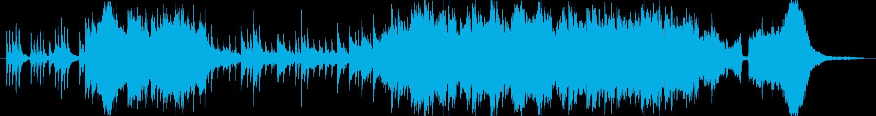 琴を主体とした和風の切ない系BGMの再生済みの波形