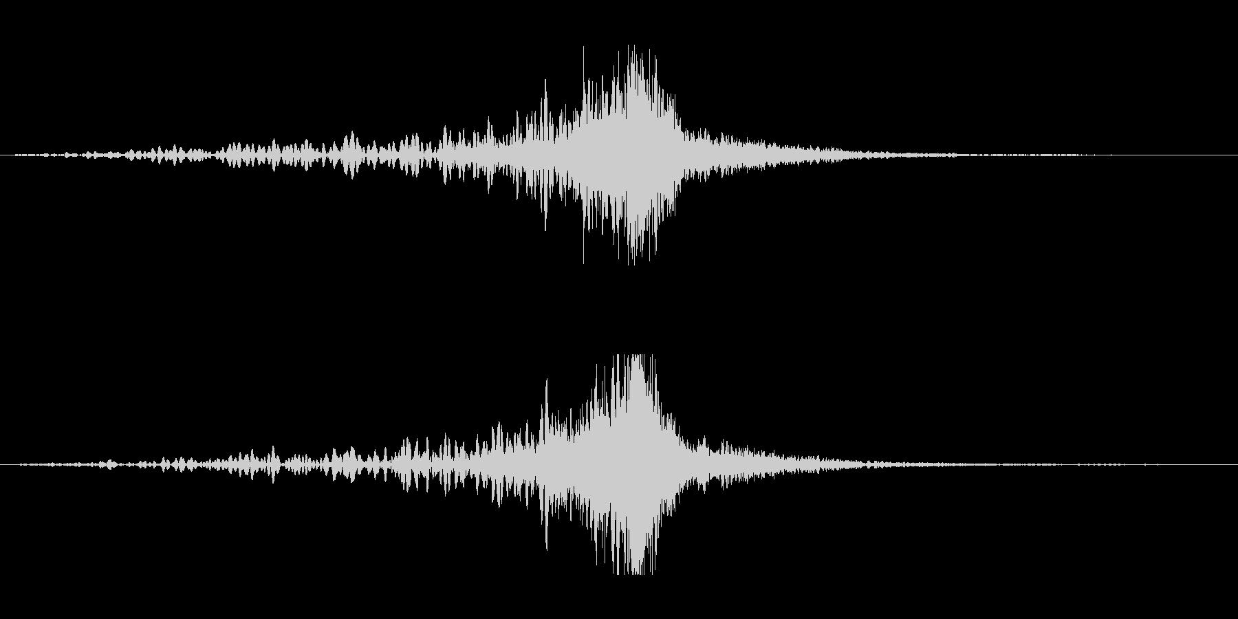 ホラー系アタック音133の未再生の波形