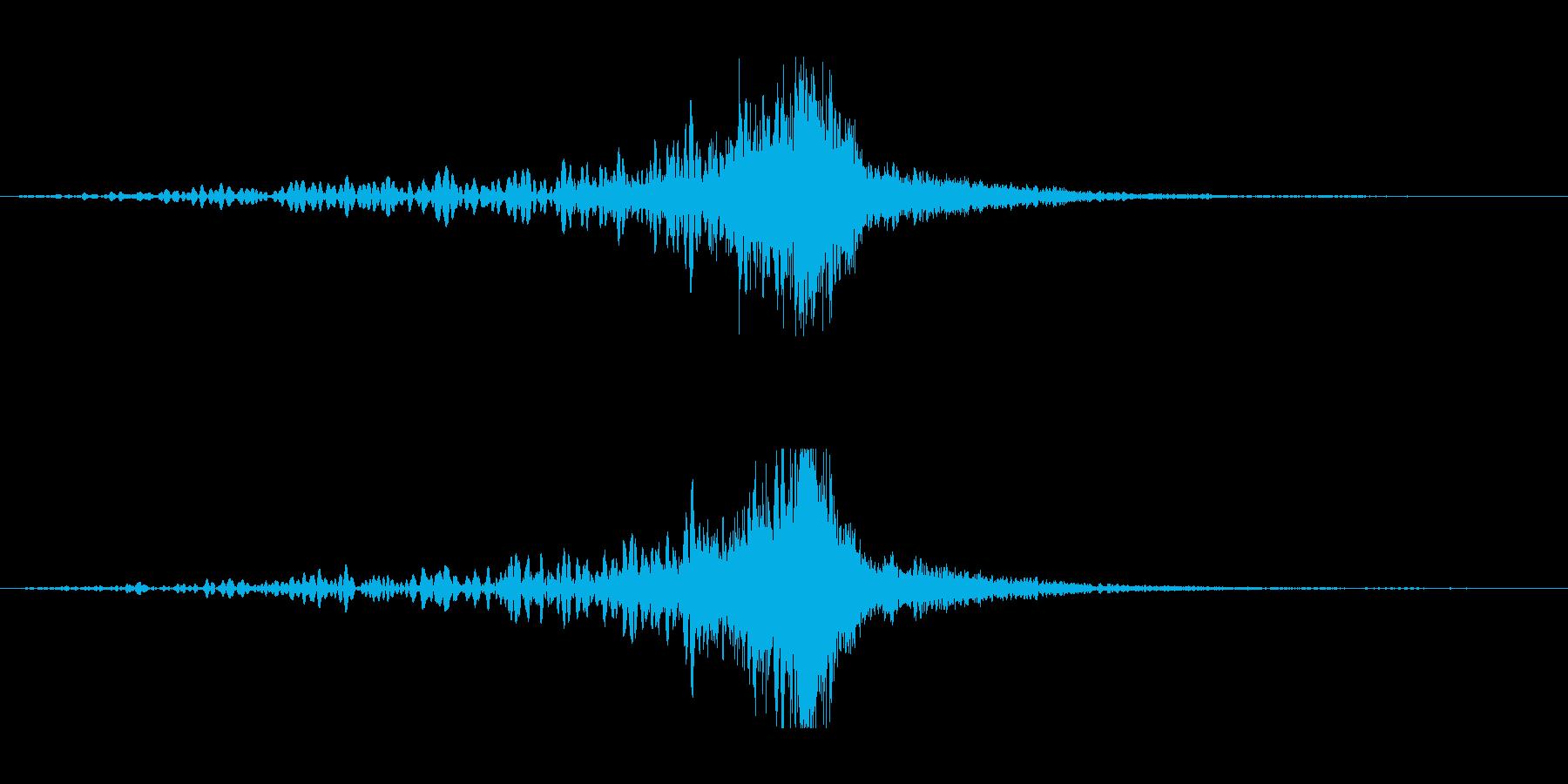 ホラー系アタック音133の再生済みの波形