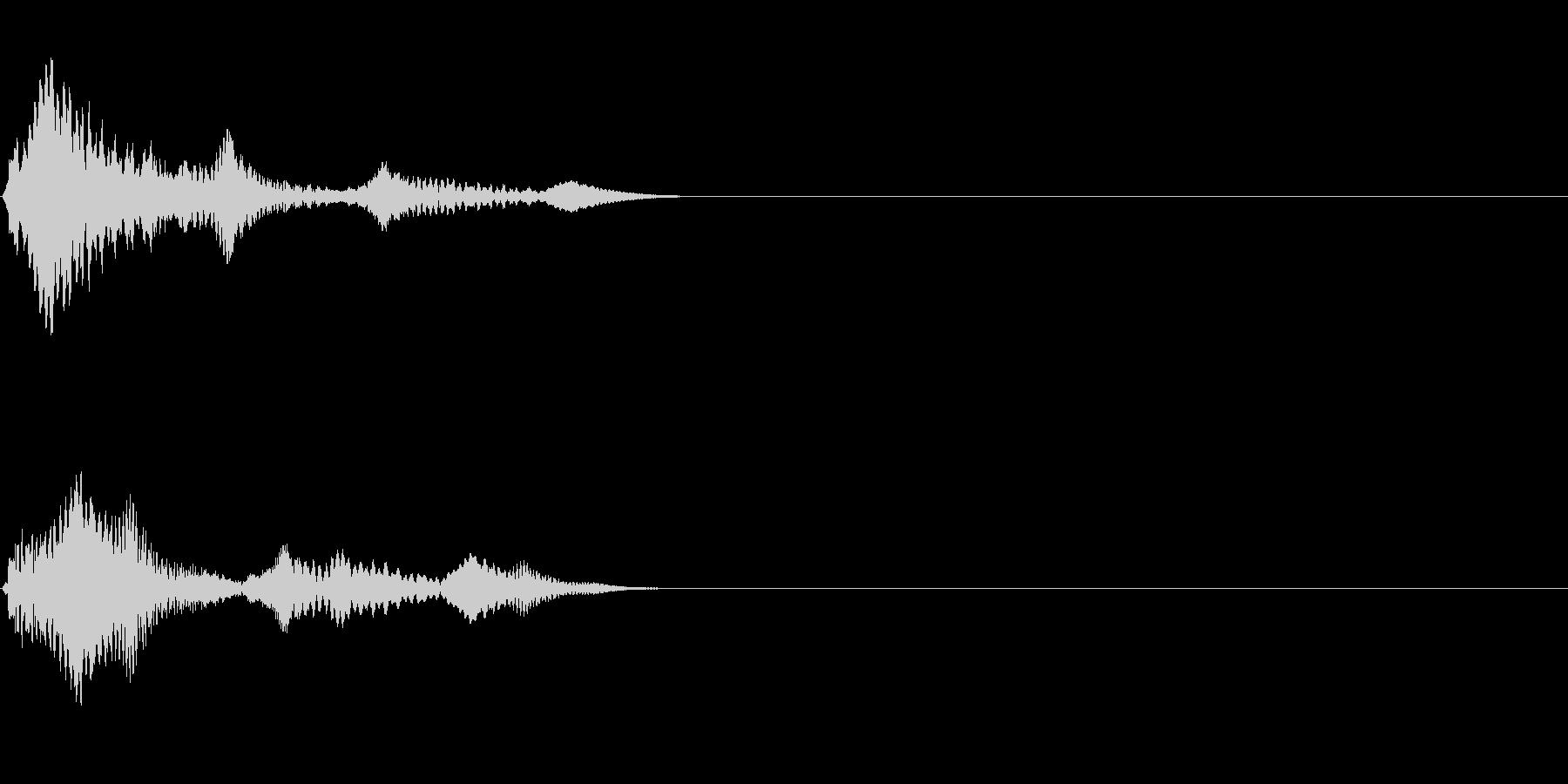 ワンショット(ブゥァーンワン)の未再生の波形