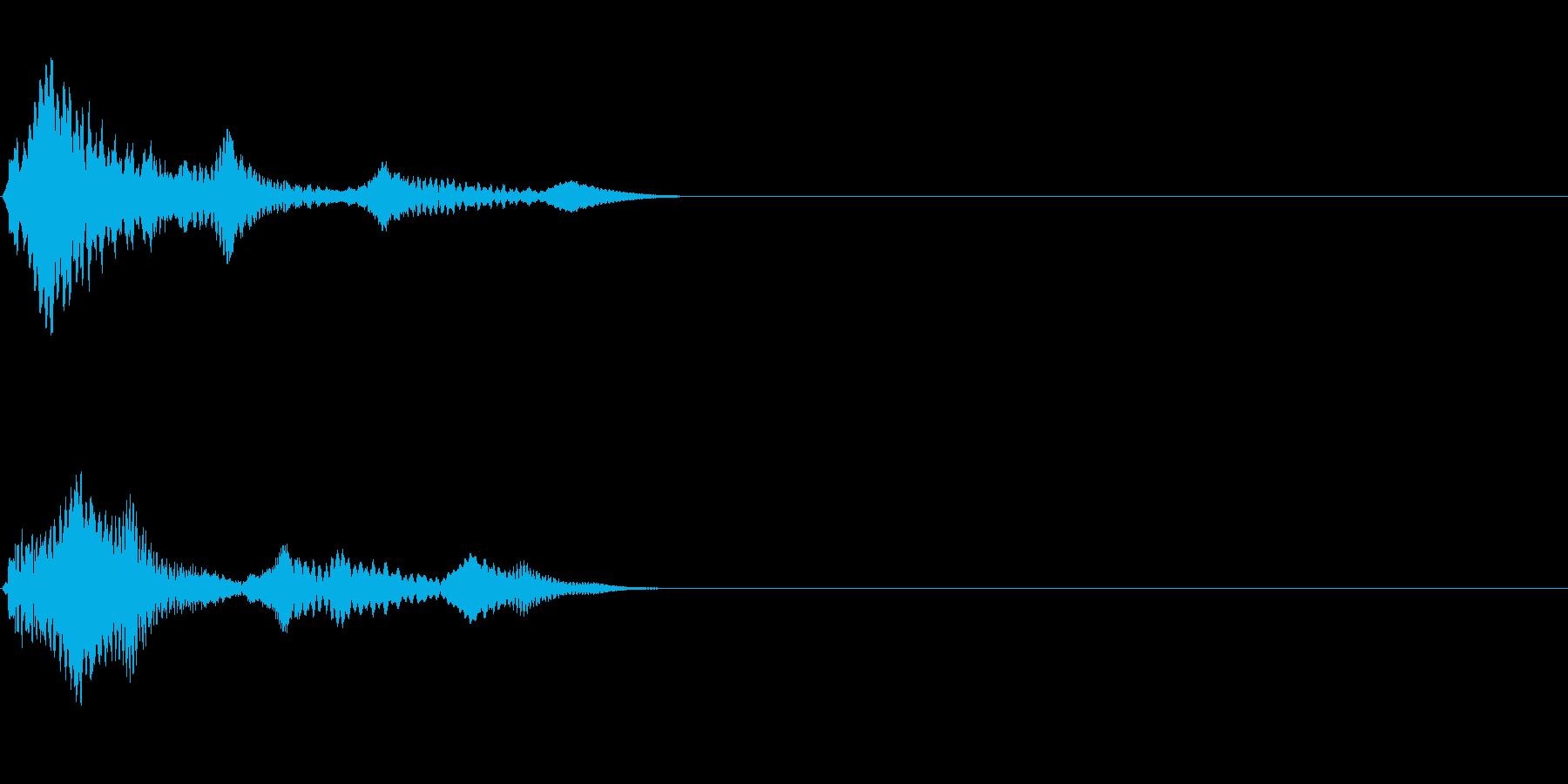 ワンショット(ブゥァーンワン)の再生済みの波形