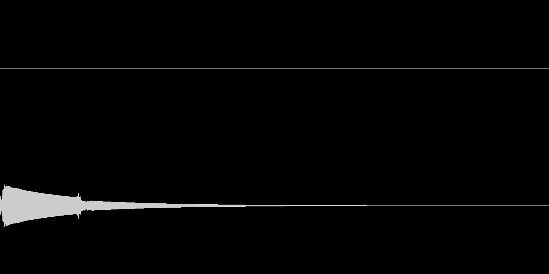 ピンポーン:右側でインターホンが鳴るの未再生の波形