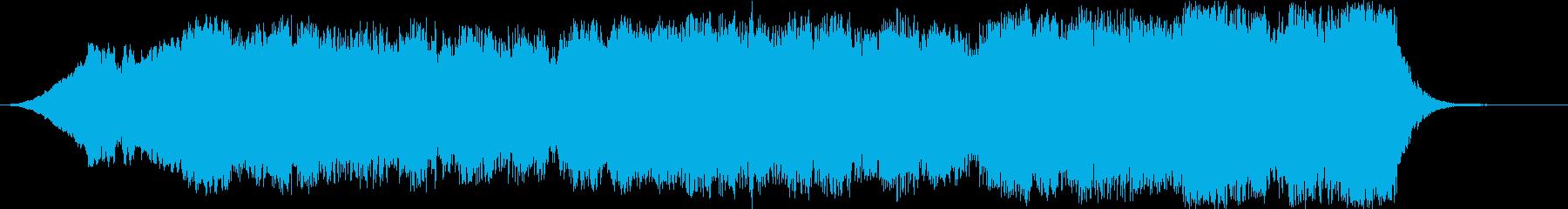 広がりのあるピアノのオーケストラ調の音の再生済みの波形