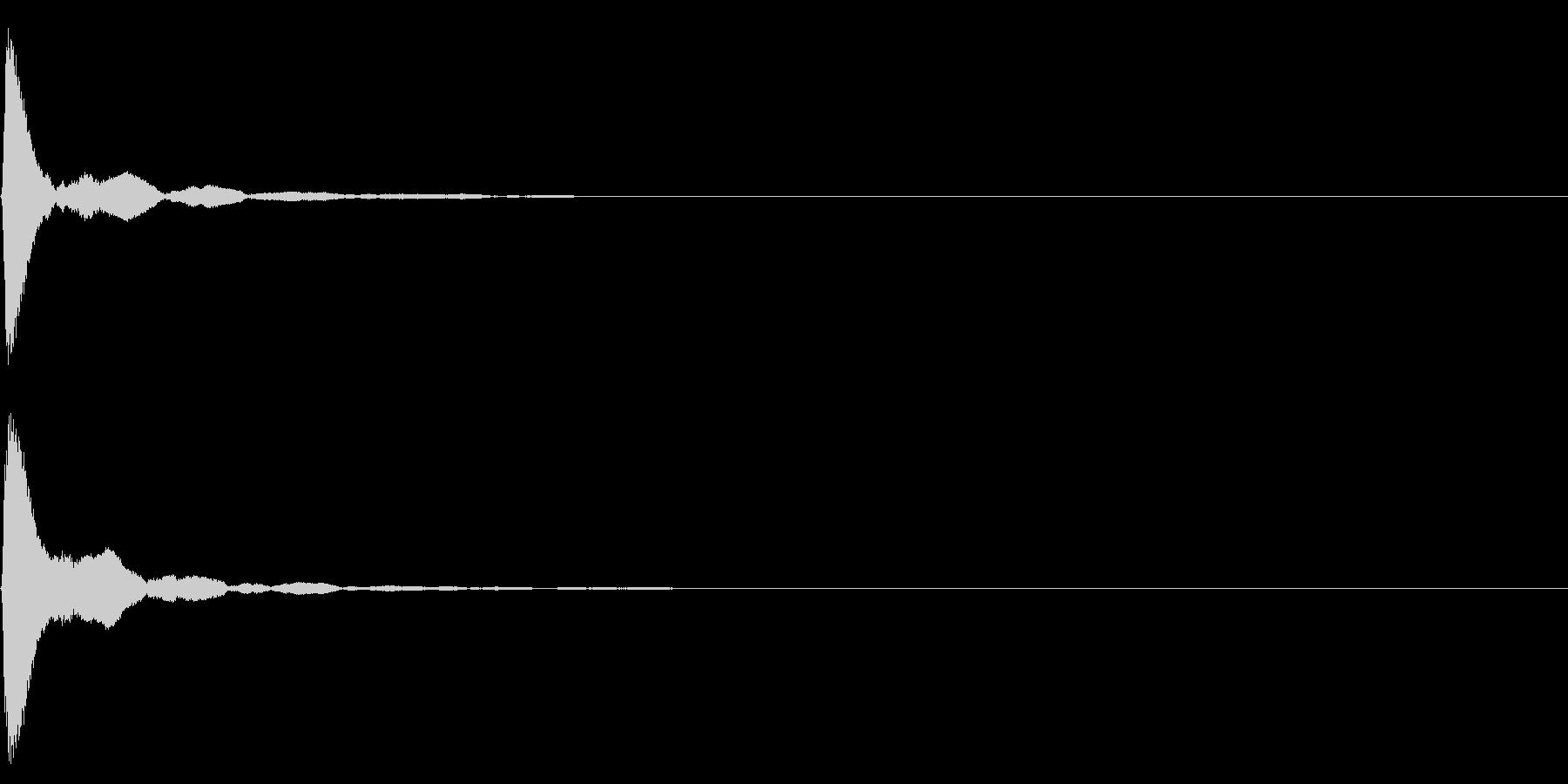 カッ!【拍子木・選択・カーソル・ボタン】の未再生の波形