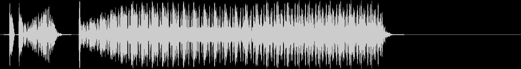 ブブー(不正解音、ハズレ音)の未再生の波形