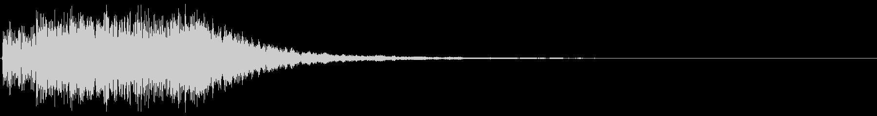 明るいアラーム音(鐘、ベル)の未再生の波形