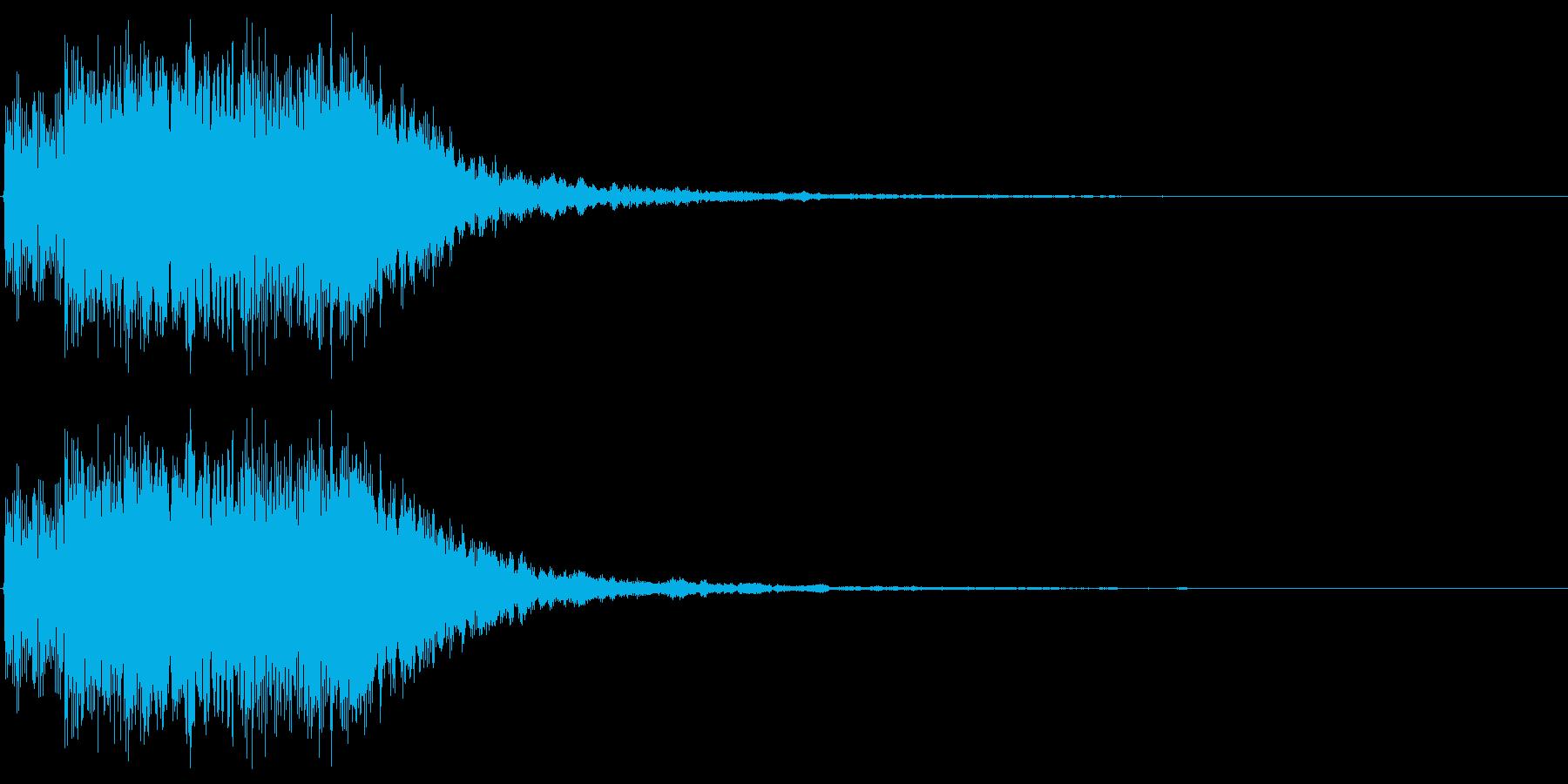 明るいアラーム音(鐘、ベル)の再生済みの波形