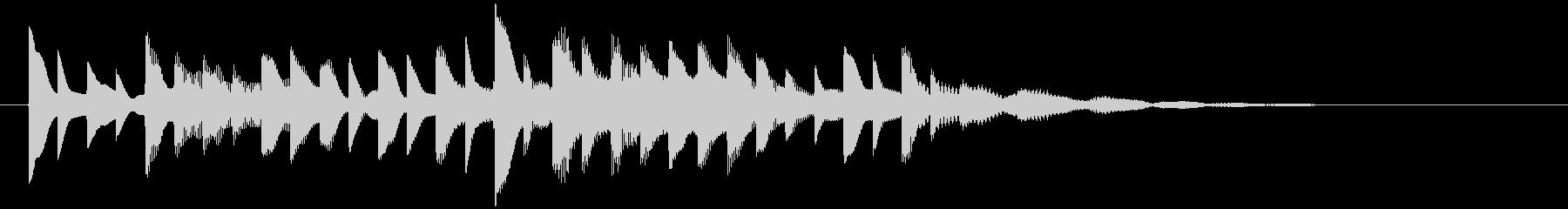 ベルの静かな場面転回音9の未再生の波形