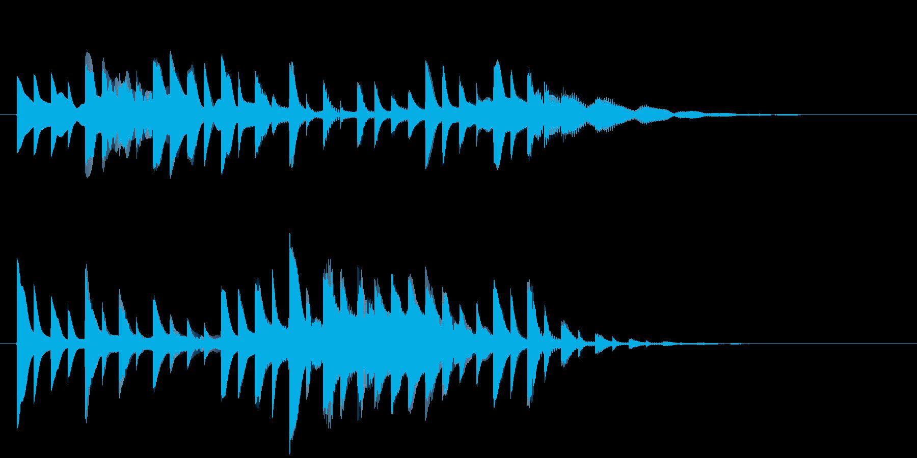 ベルの静かな場面転回音9の再生済みの波形