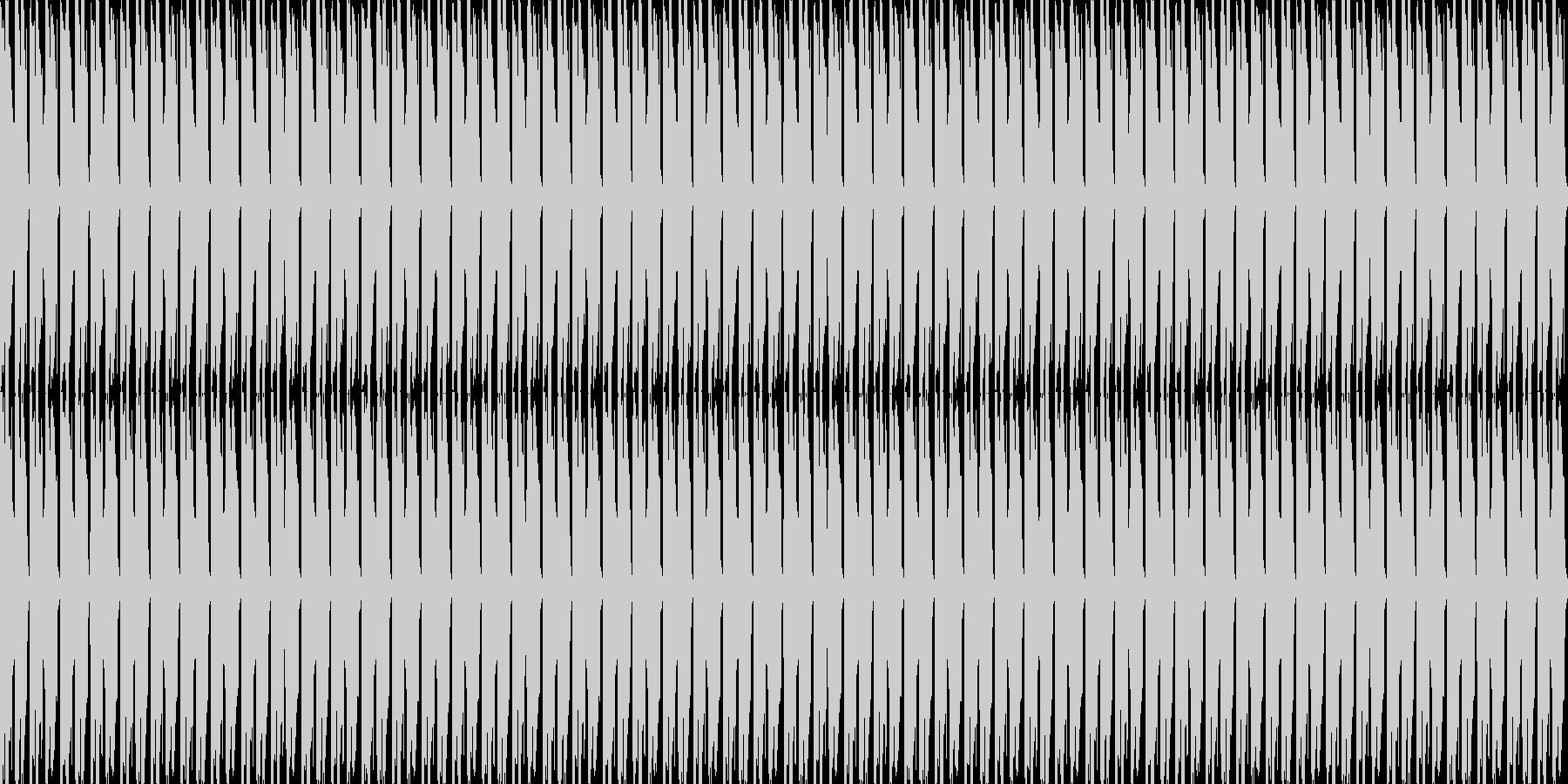 軽快なピアノと力強いドラムの未再生の波形