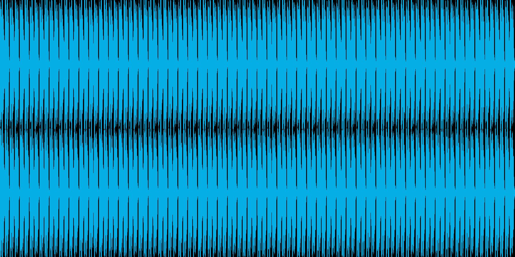 軽快なピアノと力強いドラムの再生済みの波形