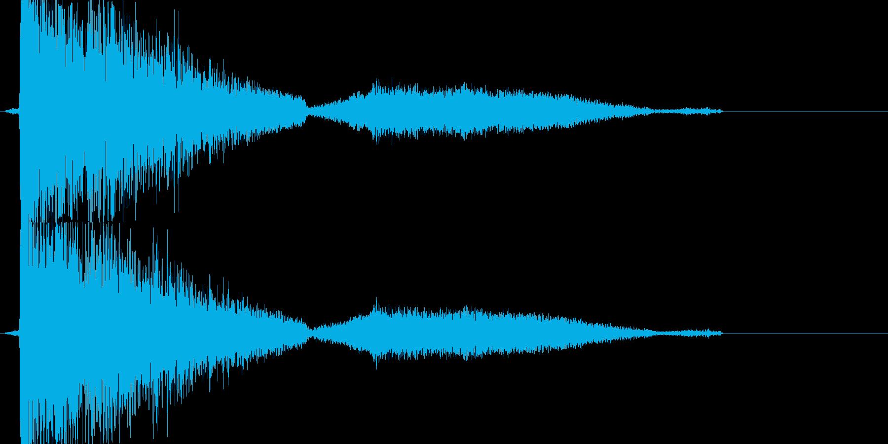 ガシャーン(割れて消える音)の再生済みの波形
