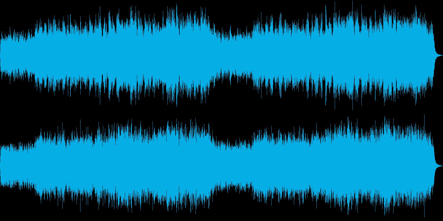 喜多郎風のゆったりとした壮大な和風曲の再生済みの波形