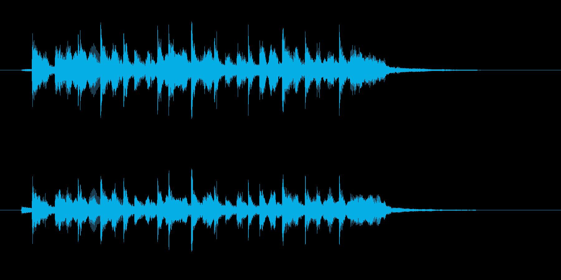 ノスタルジックで切ないシンセサウンドの再生済みの波形